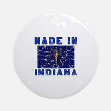 Made In Indiana Round Ornament