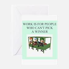 horse racing gifts t-shirts Greeting Card