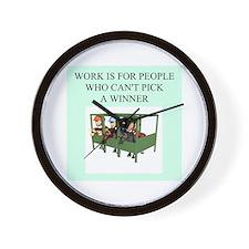 horse racing gifts t-shirts Wall Clock