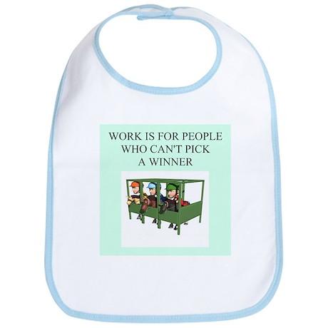 horse racing gifts t-shirts Bib