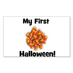 My First Halloween! (candy co Sticker (Rectangular