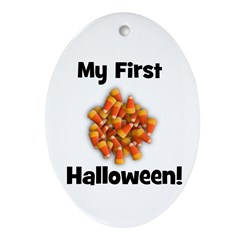 My First Halloween! (candy co Oval Ornament
