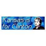 Kansas is for Clinton bumper sticker