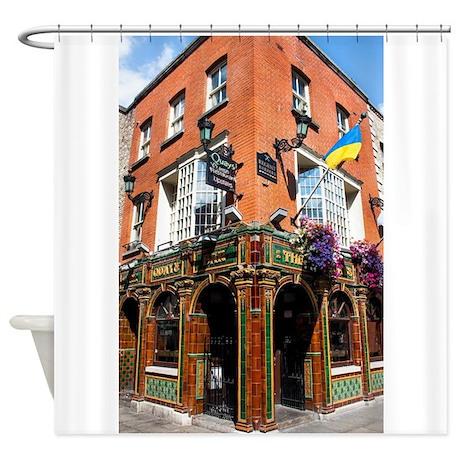 The Quays Bar Dublin Ireland Shower Curtain by ADMIN