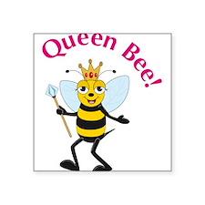"""Funny Wasp Square Sticker 3"""" x 3"""""""