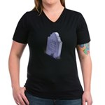 Look Out Women's V-Neck Dark T-Shirt