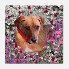Trista in Flowers Tile Coaster