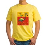 Not your Momma's Flamingo Yellow T-Shirt