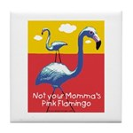 Not your Momma's Flamingo Tile Coaster