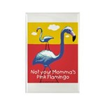 Not your Momma's Flamingo Rectangle Magnet (100 pa