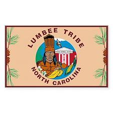 Lumbee Flag Rectangle Decal