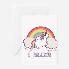 I Believe in Unicorns Greeting Cards