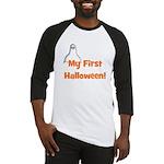 My First Halloween! (ghost) Baseball Jersey
