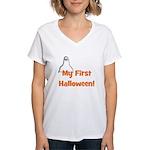 My First Halloween! (ghost) Women's V-Neck T-Shirt