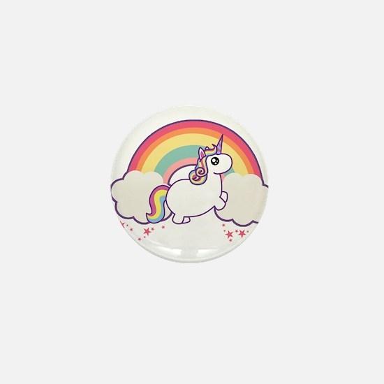 Chubby Unicorn Mini Button
