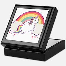 Chubby Unicorn Keepsake Box