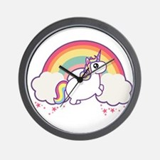 Chubby Unicorn Wall Clock