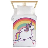Chubby unicorn Twin Duvet Covers