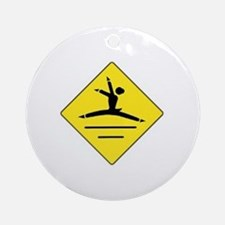 Cute Dance student Round Ornament