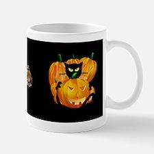 Black Cat and Pumkins Mug