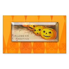 TLK005 Halloween Pumpkins Rectangle Decal