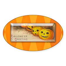 TLK005 Halloween Pumpkins Oval Decal