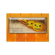 TLK005 Halloween Pumpkins Rectangle Magnet