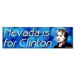 Nevada is for Clinton bumper sticker