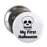My First Halloween (skull) Button