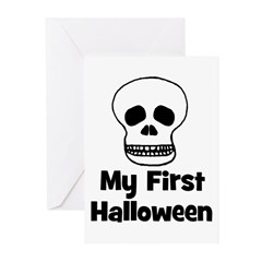 My First Halloween (skull) Greeting Cards (Pk of 1
