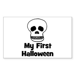 My First Halloween (skull) Rectangle Decal