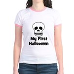My First Halloween (skull) Jr. Ringer T-Shirt