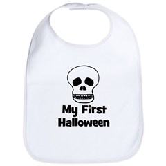 My First Halloween (skull) Bib