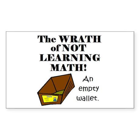 THE WRATH OF NOT LEARNING MAT Sticker (Rectangular