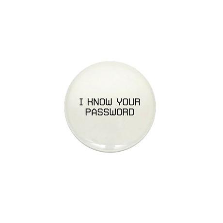 I Know Password Mini Button