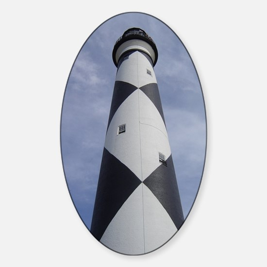 Cape Lookout Lighthouse Sticker (Oval)