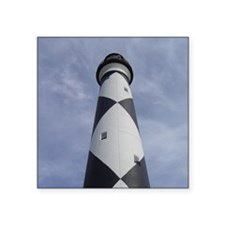 """Cape Lookout Lighthouse Square Sticker 3"""" x 3"""""""