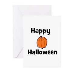 Happy Halloween! (pumpkin) Greeting Cards (Pk of 2