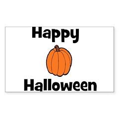 Happy Halloween! (pumpkin) Rectangle Decal