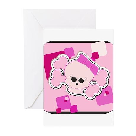 Pink Skull Greeting Cards (Pk of 10)