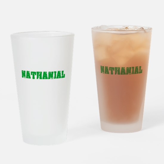 Nathanial Name Weathered Green Desi Drinking Glass