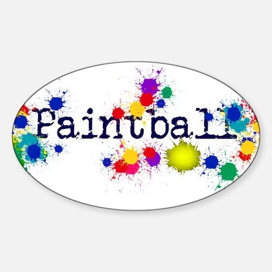 Paintball Paint Splatter Bumper Stickers
