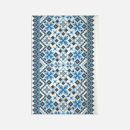 Blue UkrPrint Rectangle Magnet