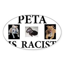 BAN PETA & BSL Oval Decal