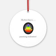 Best Day Rainbow Meditation Gifts Round Ornament
