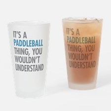 Paddleball Thing Drinking Glass