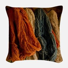 Organic Yarn Woven Throw Pillow