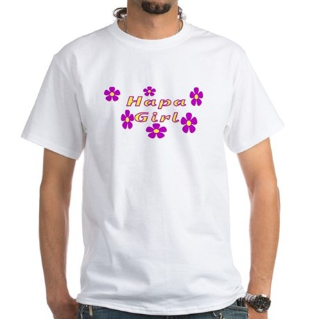 Hapa Girl Flowers White T-Shirt