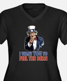 Bernie Uncle Sam Plus Size T-Shirt
