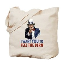 Bernie Uncle Sam Tote Bag